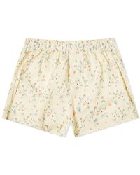 Druthers Daisy Boxer Short - Yellow
