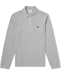 Lacoste - Long Sleeve Marl Pique Polo - Lyst