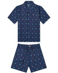 Polo Ralph Lauren All Over Short Pyjama Set - Blue