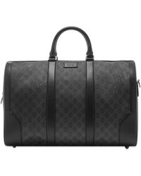 Gucci GG Supreme Duffel Bag - Black