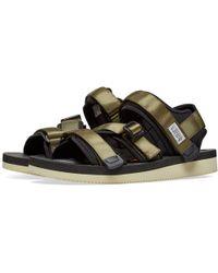 Suicoke Buckle Strap Sandals - Green