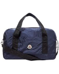 Moncler Nivelle Patch Logo Nylon Holdall - Blue