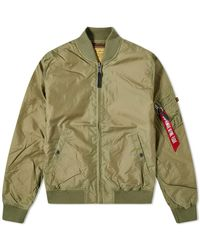 Alpha Industries Ma-1 Blood Chit Flight Jacket - Green