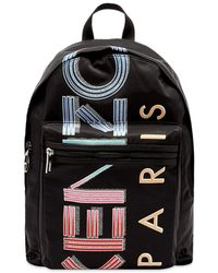 KENZO Paris Logo Backpack - Black