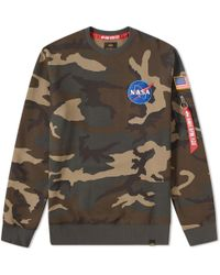 Alpha Industries - Patch Crew Sweat - Lyst