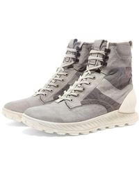Stone Island Garment Dyed Military Boot - Gray