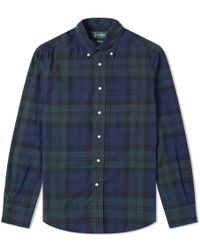 Gitman Brothers Vintage - Hopsack Plaid Shirt - Lyst