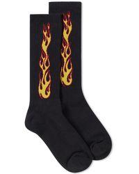 Palm Angels - Flames Socks - Lyst