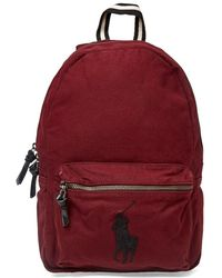 Polo Ralph Lauren - Canvas Polo Player Logo Backpack - Lyst ff24a5f85d