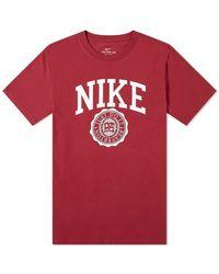 Nike Colligate Logo Tee - Red