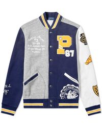 Polo Ralph Lauren Fleece Varsity Jacket - Blue