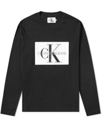 Calvin Klein - Long Sleeve Monogram Box Logo Tee - Lyst