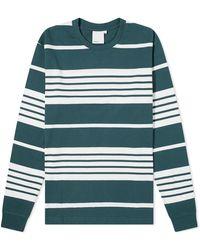 Adsum Long Sleeve Heavyweight Stripe Tee - Green