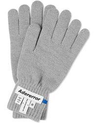 ADER error Wrist Label Glove - Gray