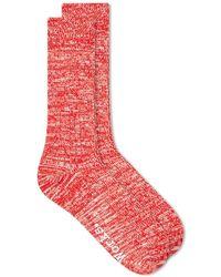 Universal Works Slub Sock - Red