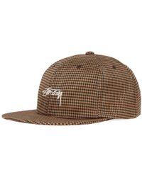 Stussy - Small Check Strapback Cap - Lyst