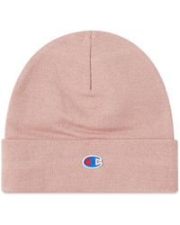 Champion Logo Beanie - Pink