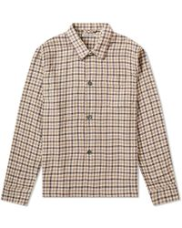 Our Legacy - Oversized Checked Alpaca And Wool-blend Overshirt - Lyst
