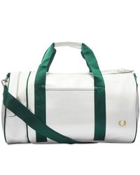 Fred Perry Classic Barrel Bag - White