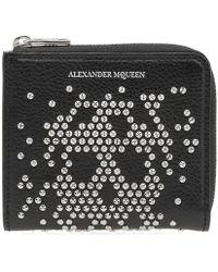 Alexander McQueen - Embellished Skull Zip Coin Purse - Lyst