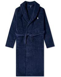 Polo Ralph Lauren Shawl-collar Robe - Blue