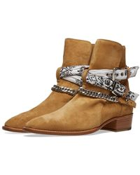 Amiri White Bandana Buckle Boot In Brown For Men Save 33