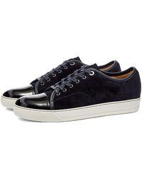 Lanvin - Patent Toe Cap Low Sneaker - Lyst