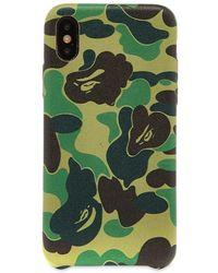 A Bathing Ape Abc Iphone X Case - Green