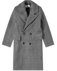 MKI Miyuki-Zoku Oversized Double Breasted Overcoat - Black