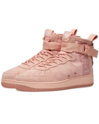 Nike Air Force 1 Special Field Mid Trainers - Pink