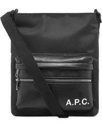 A.P.C. Camden Sacoche Bag - Black