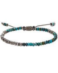 M. Cohen Round Table Stacked Mini Gemstone & Sterling Ingot Bracelet - Blue