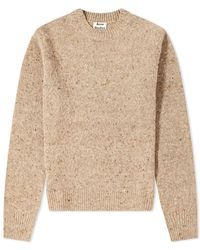Acne Studios Peele Cashmere Crew Knit - Brown