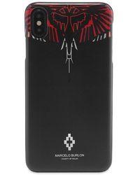 Marcelo Burlon Geometric Wings Iphone Xs Max Case - Black