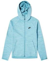 Nike Tech Heather Full Zip Hoody - Blue