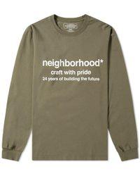 Neighborhood Long Sleeve Future Tee - Green