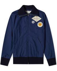 Lanvin Zipped Logo Bomber Jacket - Blue