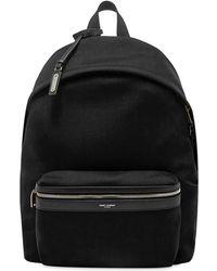 Saint Laurent Canvas City Backpack - Black