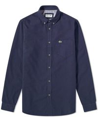 Lacoste - Button Down Oxford Shirt - Lyst
