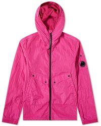 C P Company Arm Lens Nylon Hooded Jacket - Pink