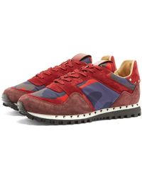 Valentino Stud Sole Rockrunner Sneaker - Red