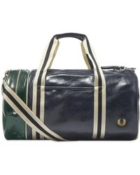 Fred Perry Color Block Classic Barrel Bag - Blue