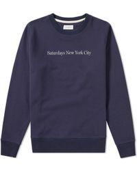 Saturdays NYC - Saturdays Bowery Print Sweat - Lyst