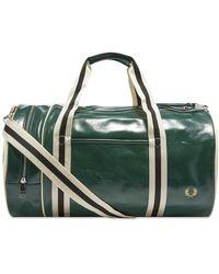 Fred Perry Classic Barrel Bag - Green