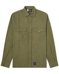 Bleu De Paname 2 Pocket Ripstop Shirt - Green