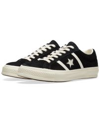 379f038c47a4 Converse Pro Leather  76 Suede Ox Black in Black for Men - Lyst
