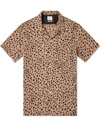 Paul Smith Leopard Print Vacation Shirt - Brown