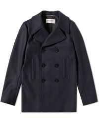 Saint Laurent - Wool Peacoat - Lyst
