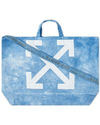 "Off-White c/o Virgil Abloh End. X ""chemical Wash"" Canvas Tote Bag - Blue"