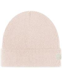 Folk Wool Cashmere Beanie - Pink
